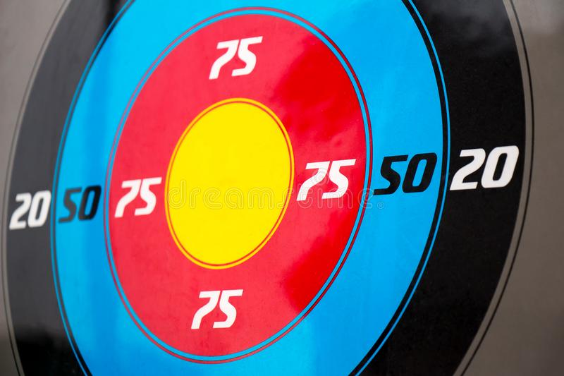 Multi-colored doelclose-up stock afbeeldingen