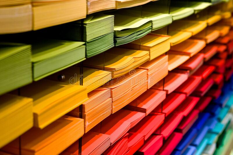 Multi Colored Folders Piled Up Free Public Domain Cc0 Image