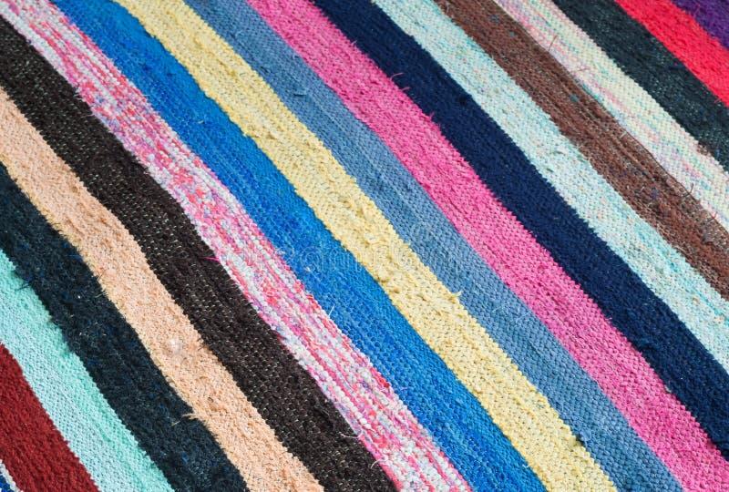 Multi-colored gestreepte deken stock foto's