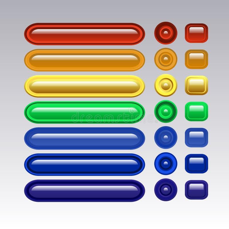 Multi-colored glasknopen voor uw plaats royalty-vrije stock afbeeldingen