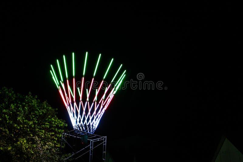Multi-colored lichten bij het festival stock foto's