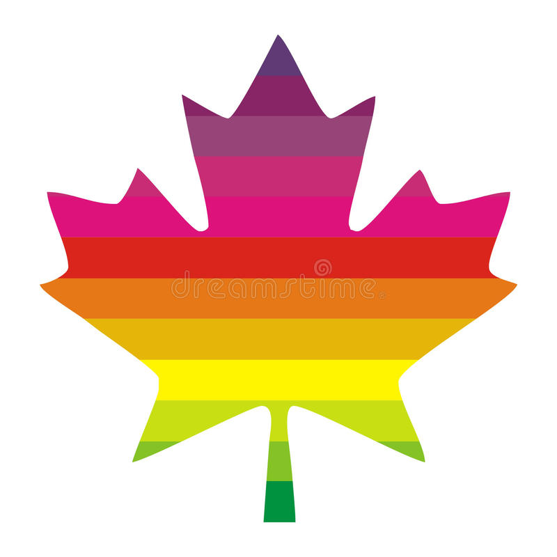 Download Multi colored maple leaf stock illustration. Image of spectrum - 22408458