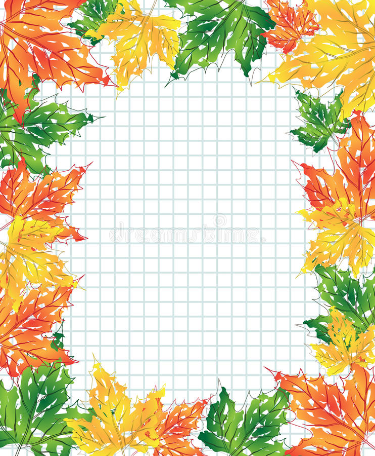 Download Multi-colored maple leaves stock vector. Illustration of design - 21476459