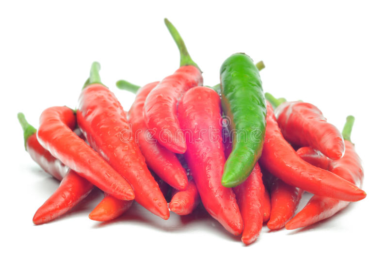 Download Multi-colored Peppers On A White Background Stock Image - Image: 25906143