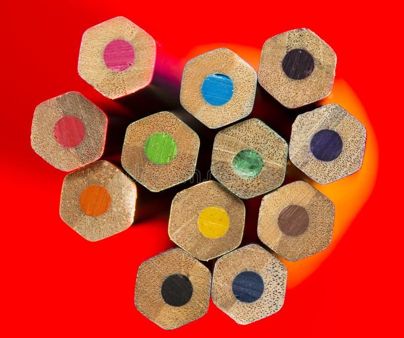 Multi-Colored Potloden stock afbeeldingen