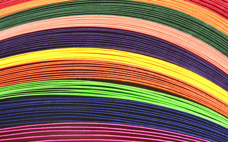 Multi colored quilling paper royalty free stock photography