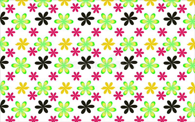Multi colored seamless pattern flowers floral abstract background wallpaper vector illustration
