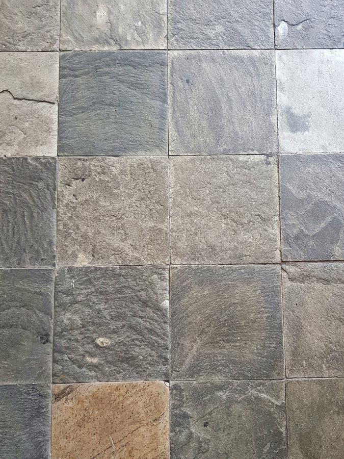Multi-colored square block cobblestones royalty free stock image