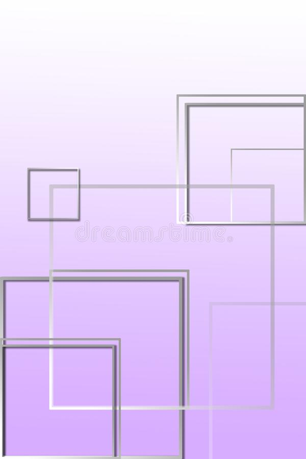 Multi-colored square figures on a purple background with a place under the text stock illustration