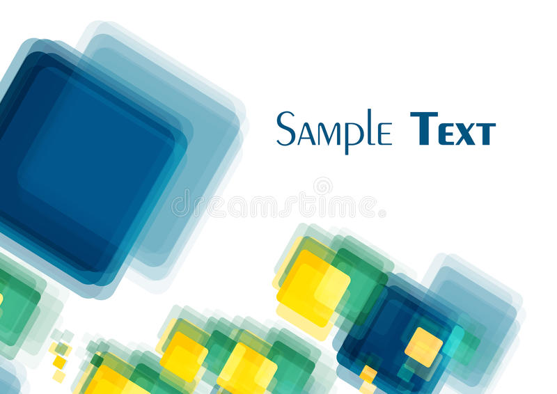 Multi-colored Squares Obliquely Royalty Free Stock Photo