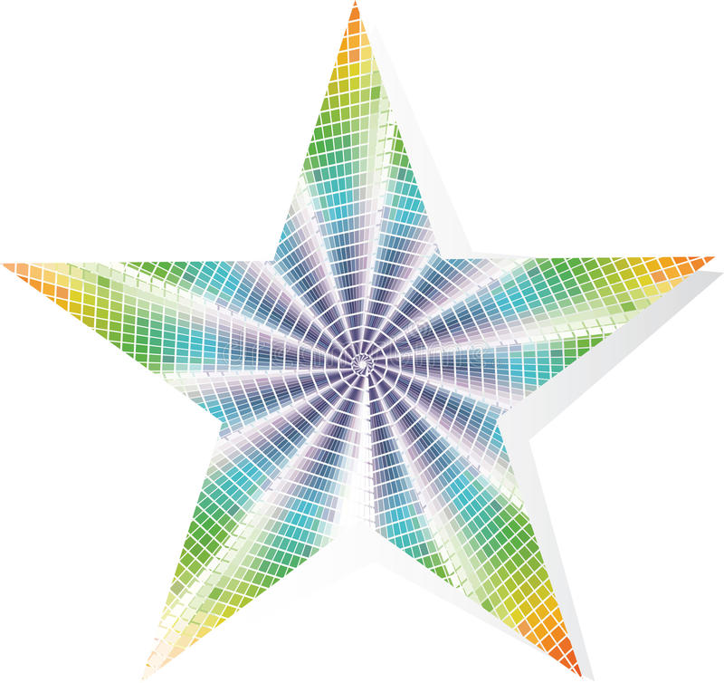 Download Multi-colored star stock vector. Image of multi, star - 23822135