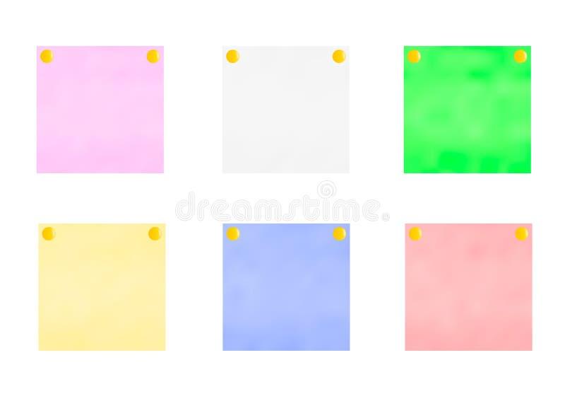 Multi-colored stickers.Vector illustration. Multi-colored stickers.Stickers for notes with a button.Vector illustration stock illustration