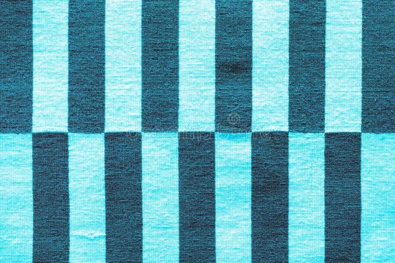 Multi-colored stripes on the fabric. Colorful traditional Peruvian style, close-up rug surface stock photo