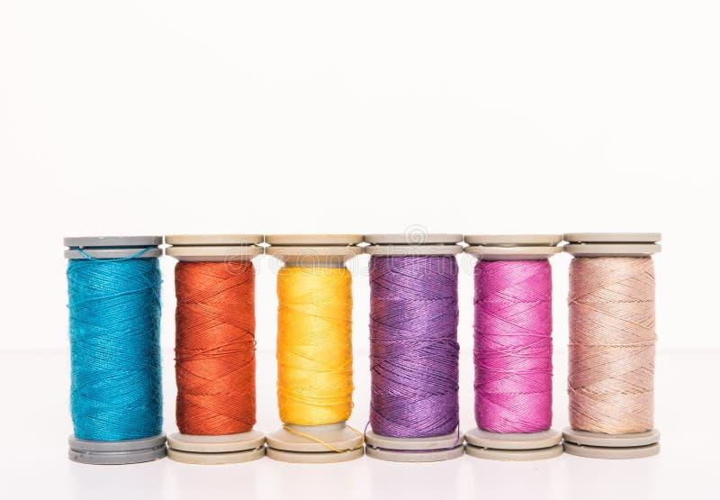 Multi-colored threads stock photo