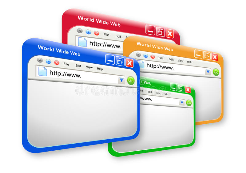Multi Colored Web Technology Websites