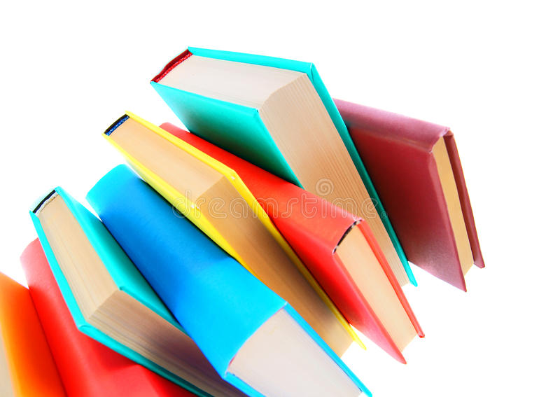 Multi-coloured böcker. arkivbild