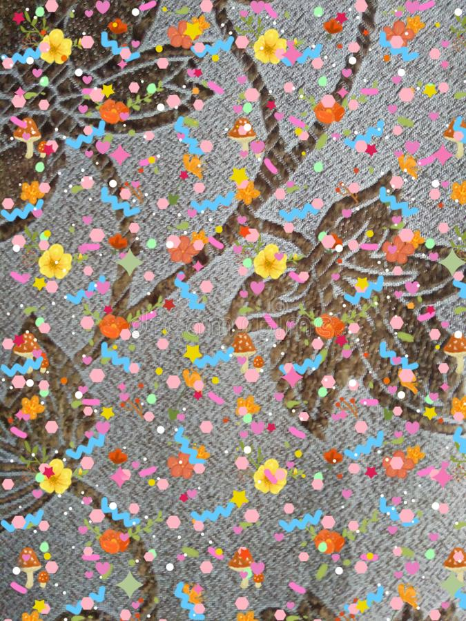 Multi coloured backgrounds confetti full frame abstract pattern textile close up stock images