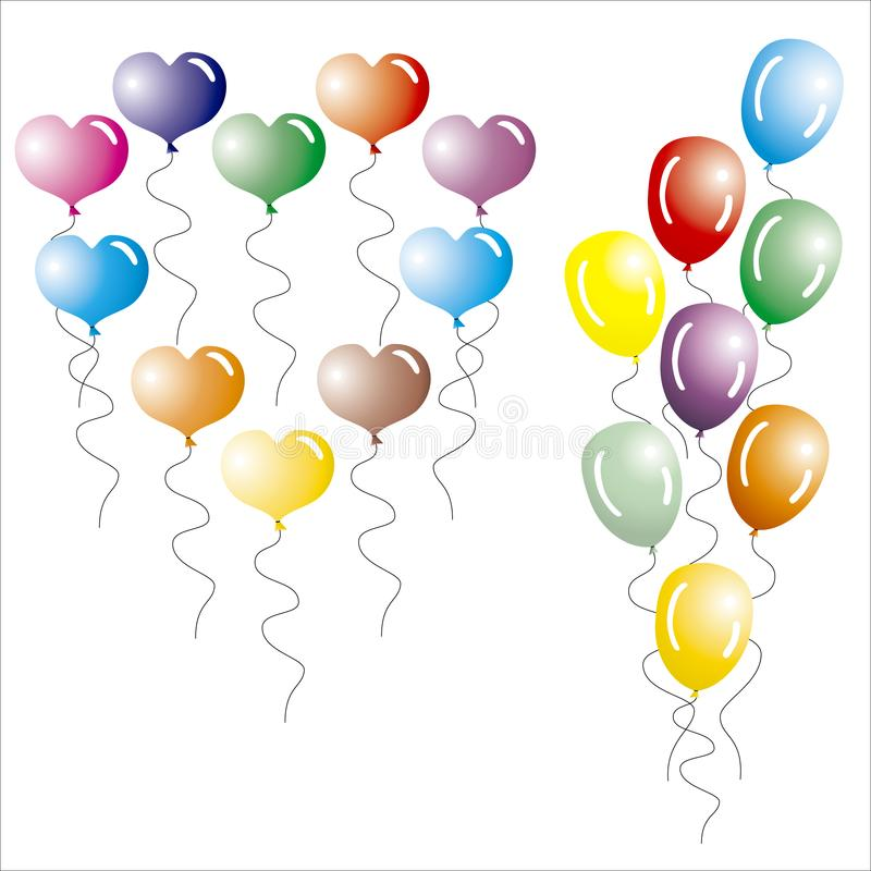 Multi-coloured Ballons. royalty-vrije stock foto's