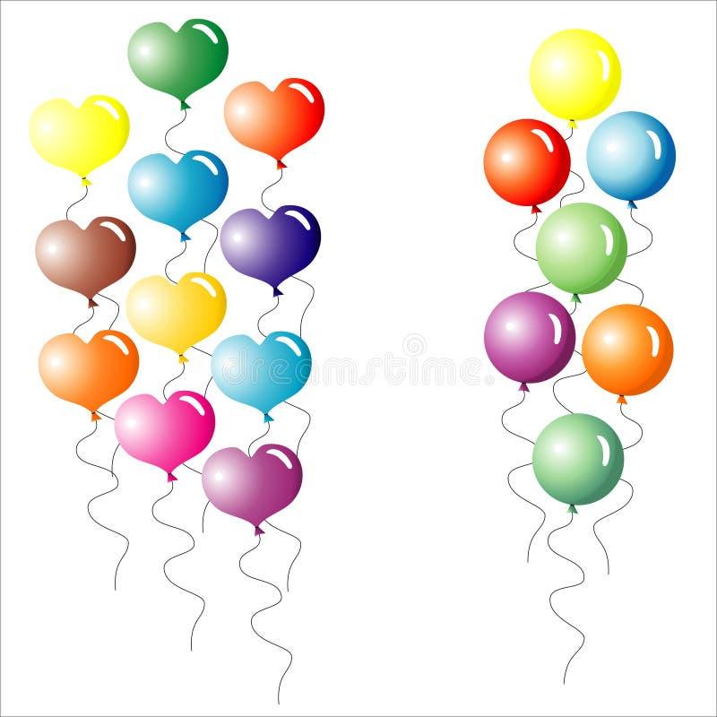 Multi-coloured Ballons. stock foto's