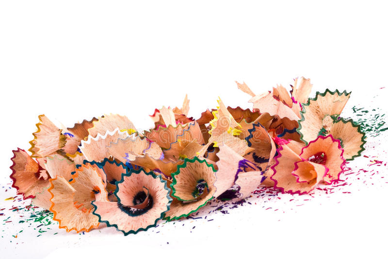 Multi-coloured bright sawdust stock photography