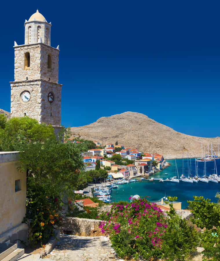 Free Multi-coloured Buildings Of Halki Island (Chalki) Stock Photo - 58048360