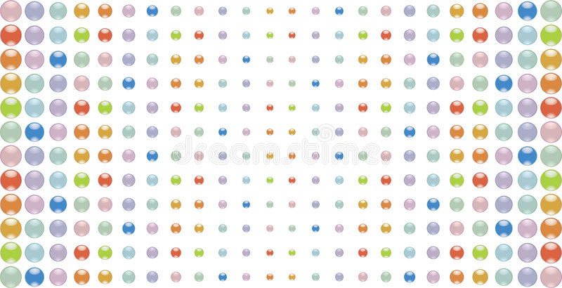 Multi-coloured buttons stock illustration