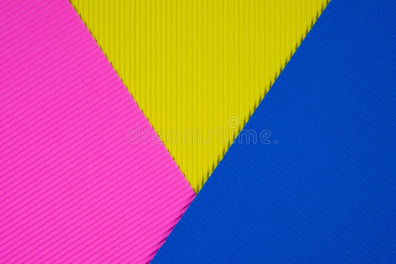 Multi coloured corrugated paper texture, use for background. vivid colour with empty space for add text or object. stock photo
