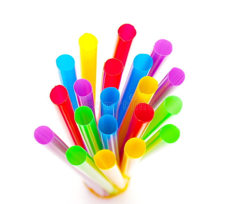 Free Multi-coloured Drinking Straws Royalty Free Stock Photos - 14135398