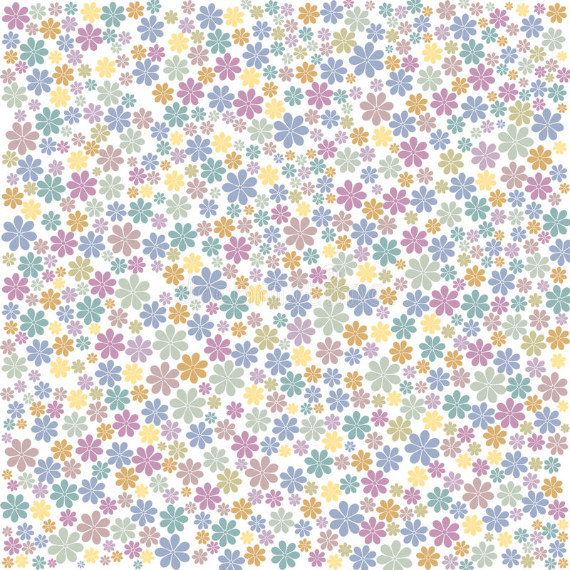 Multi-coloured Floral background. Cluster of small multi-coloured floral background pattern royalty free stock photography
