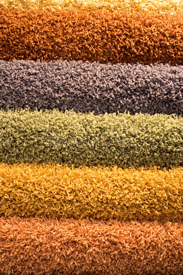 Download Multi-coloured Fluffy Carpets Royalty Free Stock Photography - Image: 1729527
