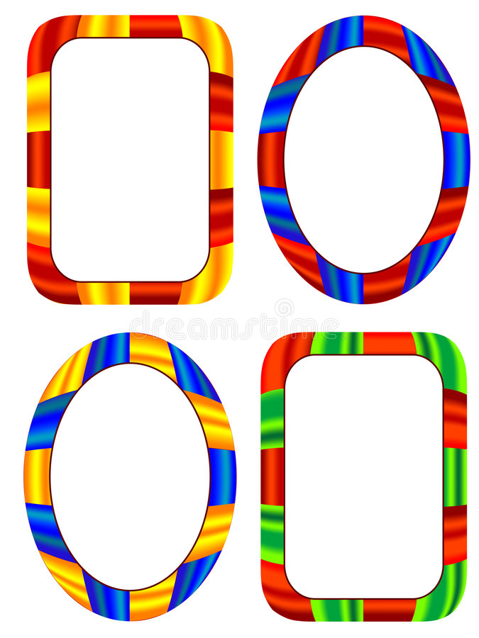 Multi-coloured frames stock vector. Illustration of empty - 4645314