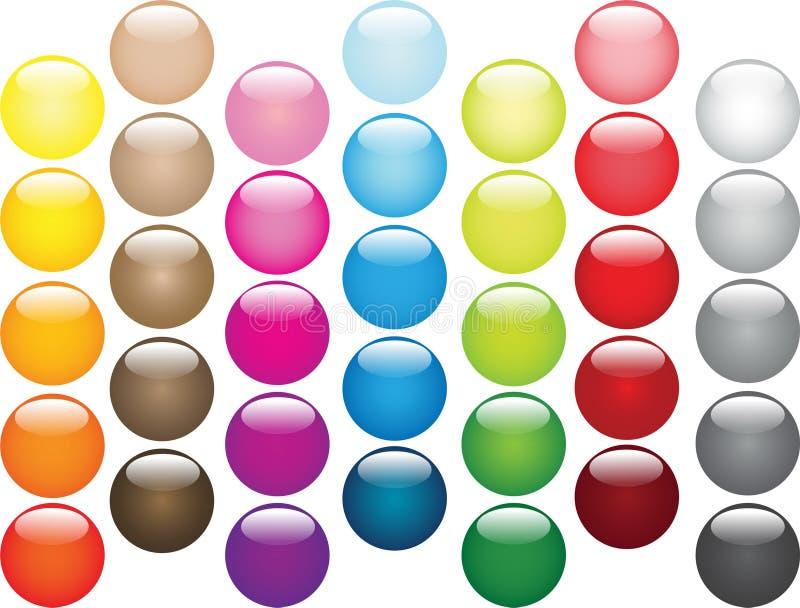 Multi-coloured geplaatste ballen vector illustratie