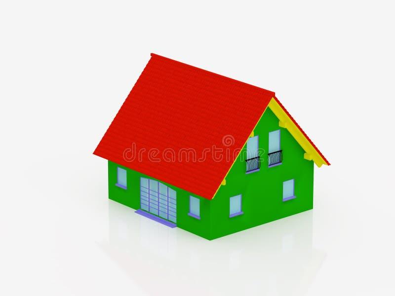 Multi-coloured house stock illustration