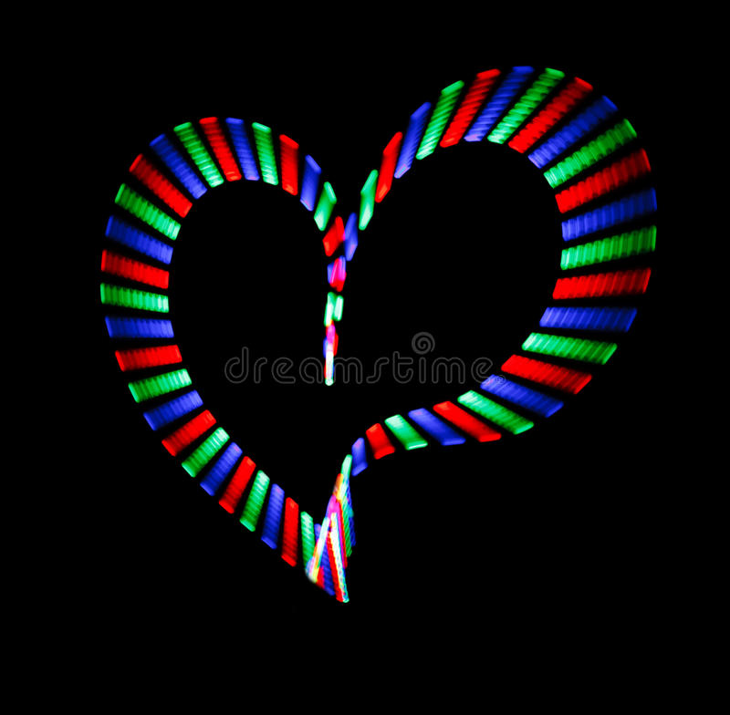 Download Multi-coloured Shone Heart On Black Stock Illustration - Image: 14240084