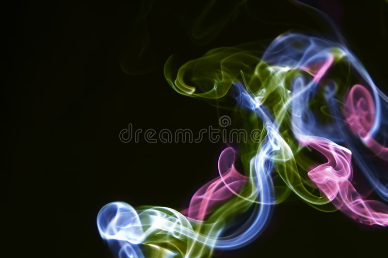 Download Multi-coloured smoke stock illustration. Illustration of white - 5411665