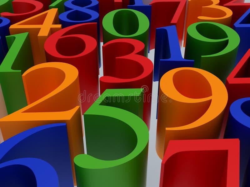 Multi-coloured symbool stock illustratie