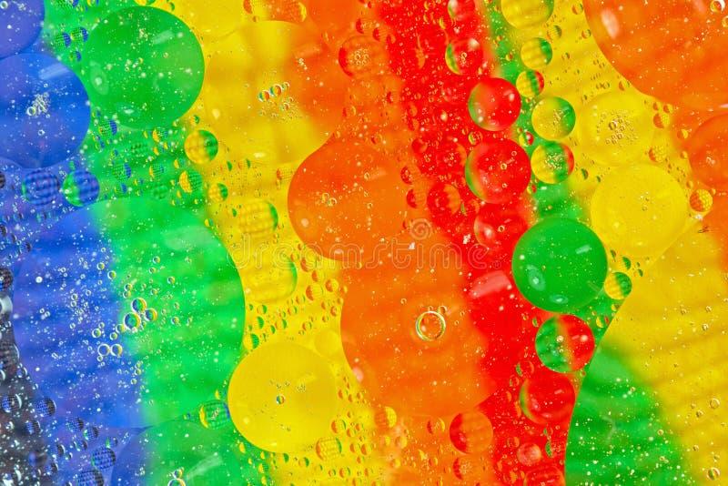 Multi coloured transparent circles stock photography