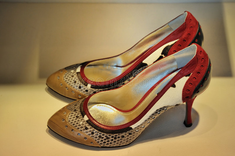 Download Multi Coloured Trendy Female Shoes Stock Images - Image: 9132134