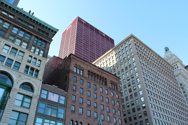 Multi construções coloridas de Chicago imagem de stock royalty free