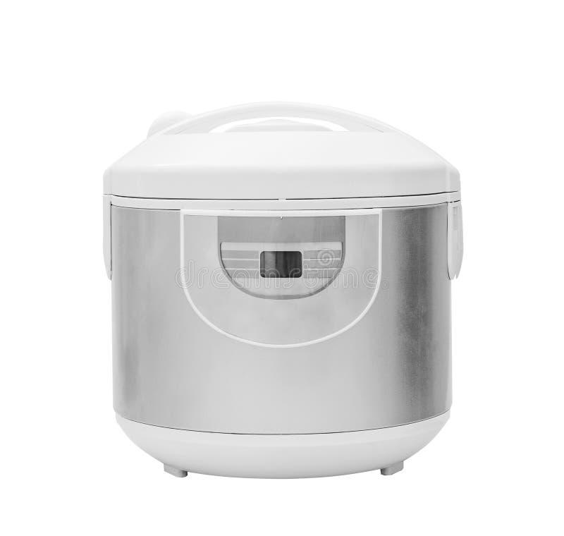 Multi cooker, crock-pot, multivarka. Isolated on the white stock images