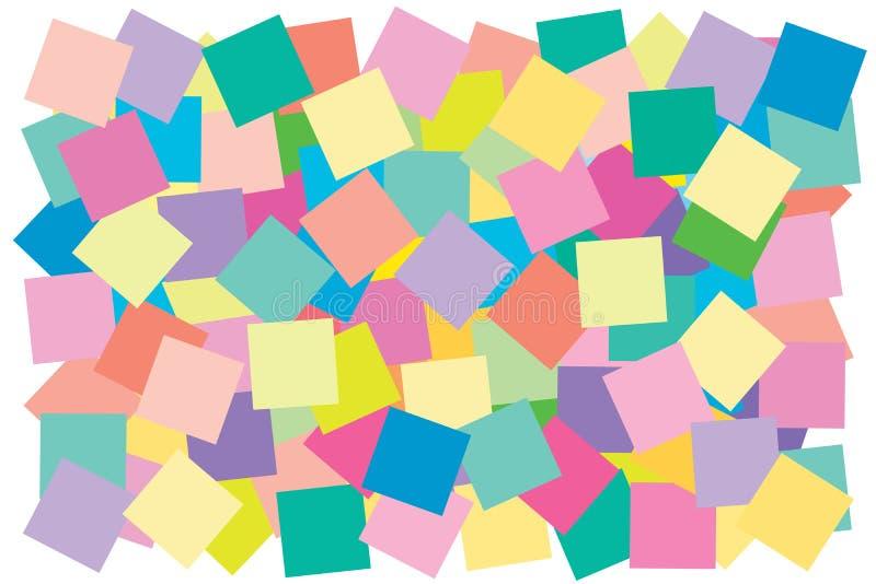 A multi cor do quadrado pôs a sobreposição para modelar colorido da forma da geometria overlay à textura ilustração stock