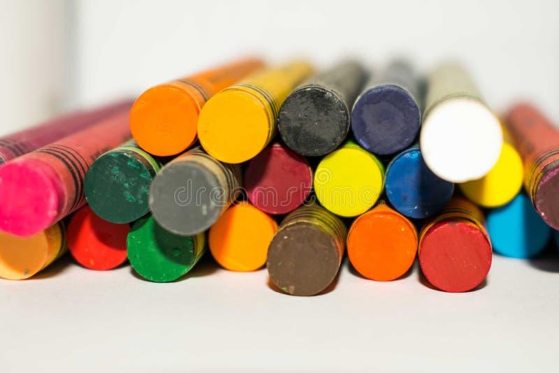 Multi cor pastel da cor empilhada junto com o espaço para o texto fotografia de stock royalty free