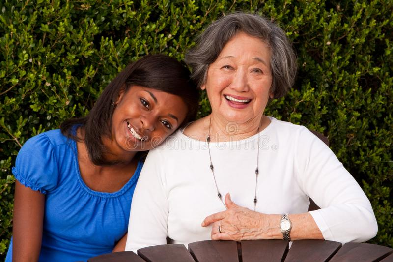 Multi cultural and generational women. Role model. royalty free stock images