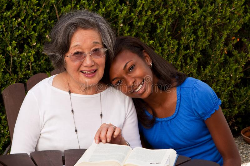 Multi cultural and generational women. Role model. stock images