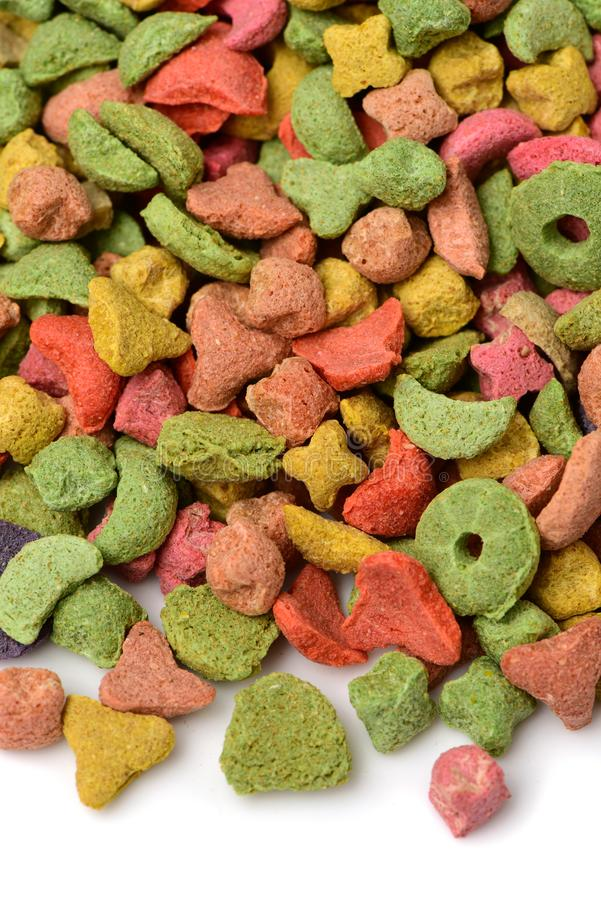 Multi da comida de gato colorido imagens de stock
