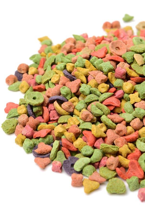 Multi da comida de gato colorido imagens de stock royalty free