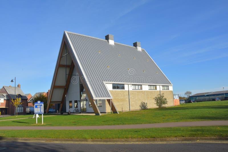 Multi--denomiational Kirche Cambourne, Cambridgeshire lizenzfreie stockfotografie