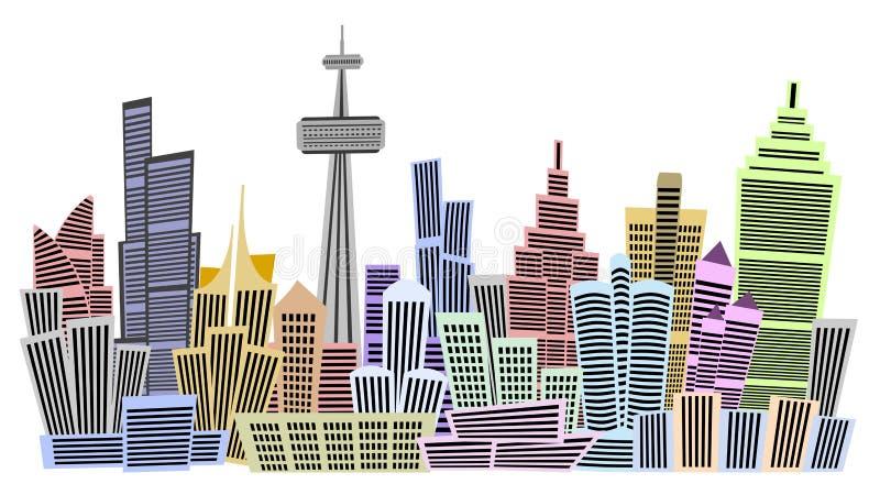 Multi edifícios contado ilustração do vetor