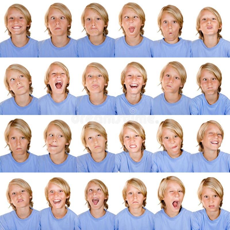 Multi espressioni facciali fotografia stock