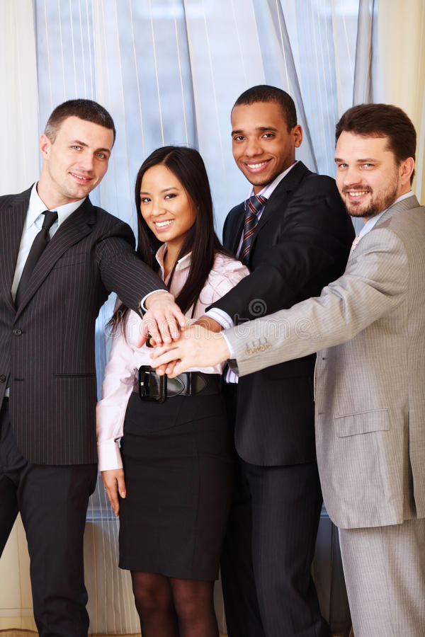 Multi ethnic business team royalty free stock image